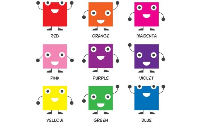 nauka angielskich kolorow